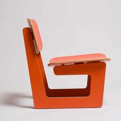 Capital Chair Orange now featured on Fab.