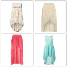 High low skirts and dresses