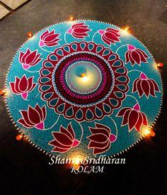 Beautiful rangoli for Pongal Rangoli Designs Latest, Simple Rangoli Designs Images, Rangoli Designs Diwali, Diwali Rangoli, Rangoli Designs With Dots, Beautiful Rangoli Designs, Kolam Designs, Easy Rangoli, Rangoli Colours