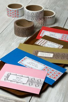 Pink, White, Red, Brown, Blue, Invitations, Black, Inspiration, Board, Invitation, Stationery, Envelope, Wrap, Save-the-date, Tapeswell