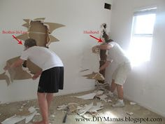 DIY Mamas: How to Insulate a Wall - Don't Pay! It is EASY!