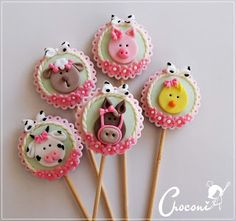 Alice, Oreo Pops, Fondant Icing, Farm Party, Maya, Biscuits, Baby Shower, Cookies, Chocolate