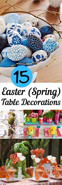 Amazing spring table decorations sure to impress.