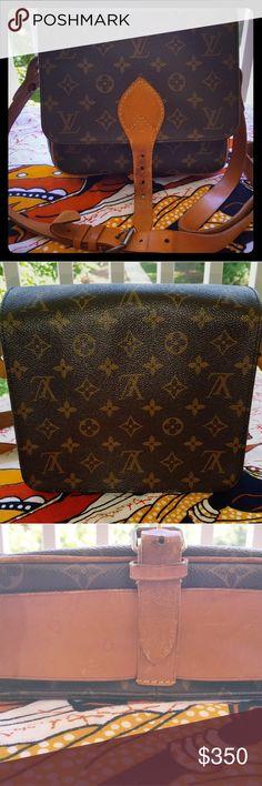 AUTHENTIC vintage  Louis Vuitton Crossbody  bag Cult Sierra Cartouchiere monogram LV bag Louis Vuitton Bags Crossbody Bags