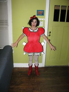 DIY paper doll costume!