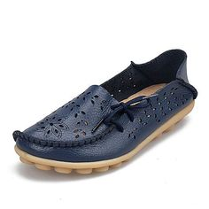Tendance Chaussures 2017/ 2018 : Spring women flats hollow out comfortable loafers women shoes female casual shoe...