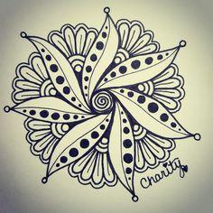 Floral Mandala drawn in under 45 minutes! | CraftyArtistKC