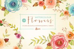 Watercolor Flowers Pack - Illustrations - 1