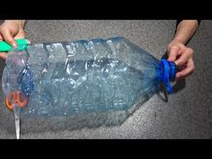 What can be made from a large plastic bottle. Crafts from plastic bottles Water Bottle Art, Water Bottle Flowers, Large Water Bottle, Pet Bottle, Soda Bottle Crafts, Plastic Bottle Crafts, Plastic Pots, Recycle Plastic Bottles, Waste Solutions