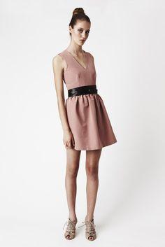Dusty Pink Pout Dress  Veeneck waist by threelittleducksaust, $115.00