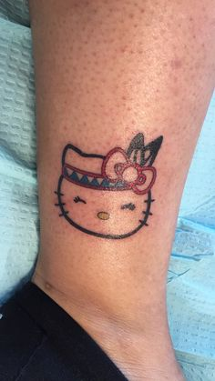 Native Hello Kitty Tattoo