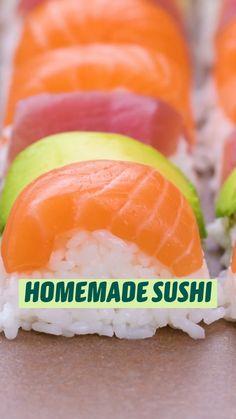 Fun Baking Recipes, Fish Recipes, Seafood Recipes, Appetizer Recipes, Dinner Recipes, Appetizers, Cooking Recipes, Homemade Sushi, Tasty