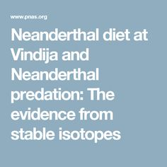 Neanderthal diet at Vindija and Neanderthal predation: The evidence from stable isotopes
