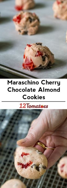 Maraschino Chocolate Cherry Cookies - the cutest Valentine's Day treat!