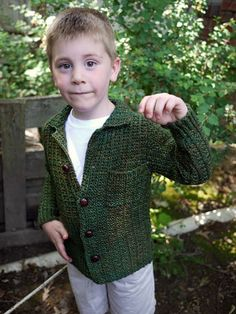 This warm, comfortable little jacket is perfect for wintery walks to the bus stop and has a simple knit/purl pattern that knits up in a flash!