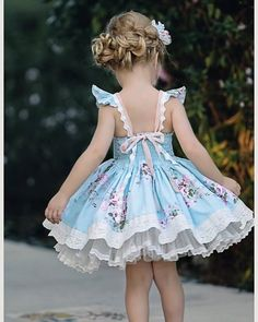 """Our new """"Singing Roses Dress"""" and pettiskirt will be live tomorrow on Dollcake. Dresses Kids Girl, Little Dresses, Kids Outfits, Flower Girl Dresses, Toddler Outfits, Little Girl Fashion, Toddler Fashion, Kids Fashion, Fashion Fashion"""