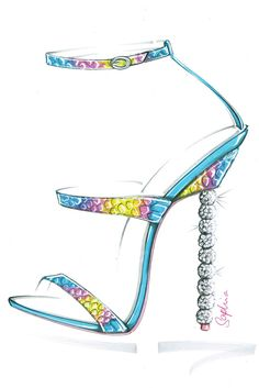 Resort '16: Footwear Designers Shoe Sketches