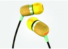 house of marley (yeah that marley) earbuds. very beautiful, and eco-friendly.