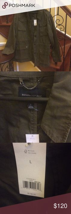 Banana republic jacket Brand new/with tags//dark forest green//banana republic jacket. Banana Republic Jackets & Coats
