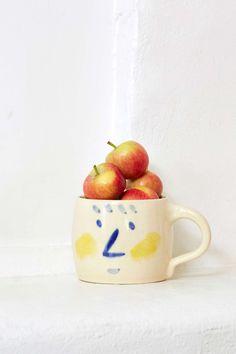 Small Spells Face Off Handmade Mug |