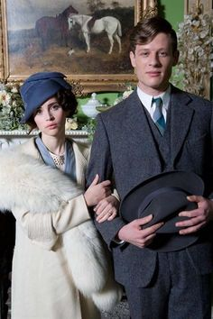 Cheerful Weather for the Wedding - Felicity Jones as Dolly Thatcham and James Norton as Owen  (2012).