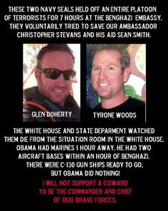 These two men are the REAL PERSONS of the year! What happened TIME? Have your values been compromised?Tell me,who do you think is More important.Two men who UNSELFISHLY risked and lost their lives to save the lives of over 20 others or a man who doesn't take any responsibility for anything but all the credit? The same man that didn't send help for our fellow Americans!band leaked security secrets that cost the lives of members of Seal Team Six? You've LOST ALL JOURNALISTIC  CREDITABILITY.