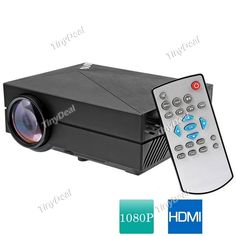 TRONFY GM60 Portable LCD Projector HD 1000LM 1080P Multimedia Home Theater HDMI VGA USB AV SD OPJ-405746