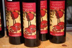 Revah Pomegranate wine - YUM!