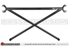 Password:JDM 4 Point Rear Strut Tower Bar 92-00 Civic Coupe / Sedan (Black Edition)