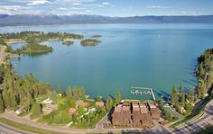 Somers Bay, north end of the lake. Bigfork Montana, Mystic Mountain, Flathead Lake, Montana Homes, Big Sky Country, Throughout The World, Places To Go, National Parks, Vacation