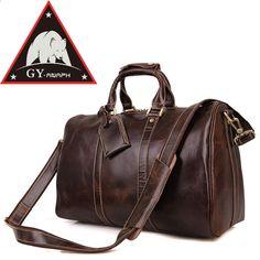 """ANAPH ब्रांड शीर्ष ग्रेड पूर्ण अनाज चमड़ा सामान बैग पुरुषों के लिए व्यापार यात्रा बैग 17 """"लैपटॉप बड़ी क्षमता उच्च गुणवत्ता कॉफी"""