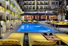 Piscina al anochecer #h10metropolitan #metropolitan #h10 #h10hotels