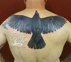 crow tattoos  | Off the Map Tattoo : Tattoos : Tee Jay : Color Crow