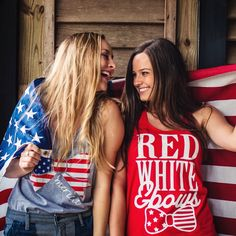 You cannot go wrong with our 'Red, White, and Bows' Racerback Tank Top this 4th of July! Order before 6/28 for Guaranteed Delivery by America's Birthday!