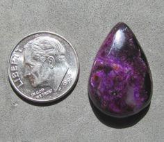 Sugilite Cabachon 15ct Beautiful magenta purple large tear drop Free US Shipping