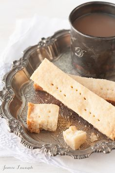 An easy recipe for shortbread cookies with just 3 ingredients and a little salt. Makes crisp shortbread with a sandy texture, similar to Walker shortbread