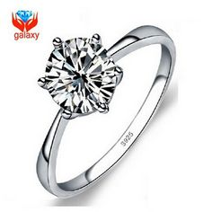 Check it on our site Classic 6 Claw Engagement Ring Real 925 Sterling Silver 1 Carat Hearts and Arrows CZ Diamant Wedding Rings for Women ZRD02 just only $7.08 with free shipping worldwide  #weddingengagementjewelry Plese click on picture to see our special price for you