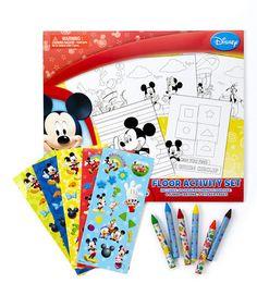 Look at this #zulilyfind! Mickey Mouse Club Floor Activity Set #zulilyfinds