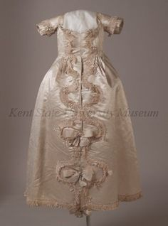 Baptism or christening robe, ca 1770 US, Kent State  This would have probably been worn after the event as formal dress.