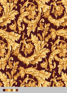 OW Hospitality Design Design - new theme - Motif Baroque, Baroque Pattern, Pattern Art, Pattern Design, Design Design, Gold Toile Wallpaper, Indonesian Decor, Ornament Drawing, Shirt Print Design