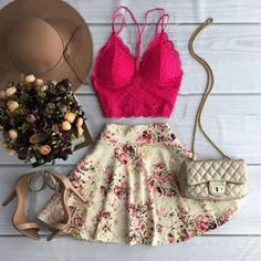 Discover recipes, home ideas, style inspiration and other ideas to try. Girly Outfits, Skirt Outfits, Cool Outfits, Casual Outfits, Date Outfits, Girl Fashion, Fashion Dresses, Western Outfits, Pretty Dresses