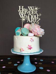 Género revelan topper de la torta, torta de, torta cumpleaños Baby shower, género revelan decoraciones, decoraciones de la ducha de bebé, fiesta