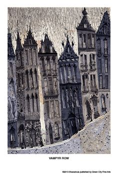 Matthew H Sharack / city illustration Art And Illustration, Illustrations Posters, Building Illustration, Art Graphique, Pics Art, Grafik Design, Painting & Drawing, Painting Abstract, Acrylic Paintings