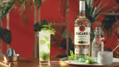 Simple and Delicious BACARDI Mojito Recipe. Bacardi Drinks, Bacardi Mojito, Smirnoff, Bacardi Cocktail, Cocktail Drinks, Refreshing Cocktails, Fun Cocktails, Summer Drinks, Root Beer