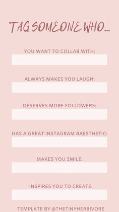 Tag Someone - The Tiny Herbivore Social Media Banner, Social Media Template, Social Media Graphics, Free Instagram, Instagram Quotes, Instagram Story Template, Instagram Templates, Make You Smile, Your Smile