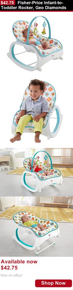 Baby bouncers and vibrating chairs: Fisher-Price Infant-To-Toddler Rocker, Geo Diamonds BUY IT NOW ONLY: $42.75