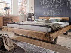 Massives Balkenbett mit Stahlkufen. Ein Traum zum Träumen! Pickupmöbel.de