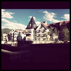 View from the jacuzzis in Lionshead Village of Vail, CO