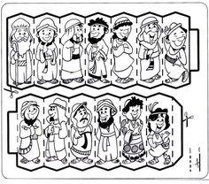 Jacob y sus 12 hijos, tribus de israel para colorear
