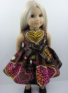 Wild Hearts Animal Print Dress for the American Girl Doll